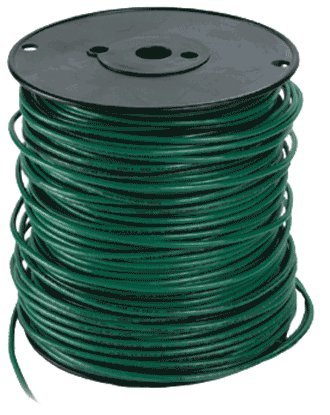 Republic Wire Inc. Green Sol 10 Gauge Solid Copper Ground Wire 500 ...